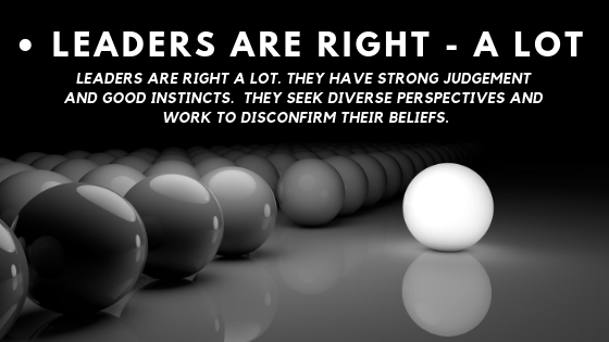 Amazon leadership principles – Leaders are right – a lot.