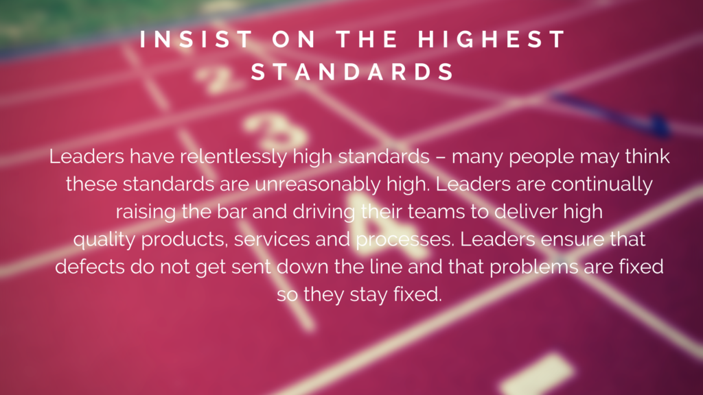 Amazon Leadership Principles – Insist on the Highest Standards